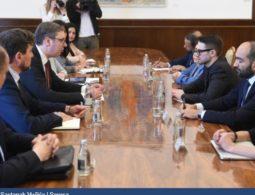Predsednik Vučić sa Aleksom Sorosom o evrointegracijama, preduzetništvu i Romima